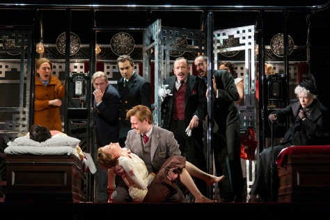 """Agatha Christie's """"Murder On The Orient"""" was adapted by Ken Ludwig for a world premiere starting tonight at McCarter Theatre in Princeton. Directed by Emily Mann, it's the first stage appearance of Hercule Poirot. (PHOTO: T Charles Erickson)"""
