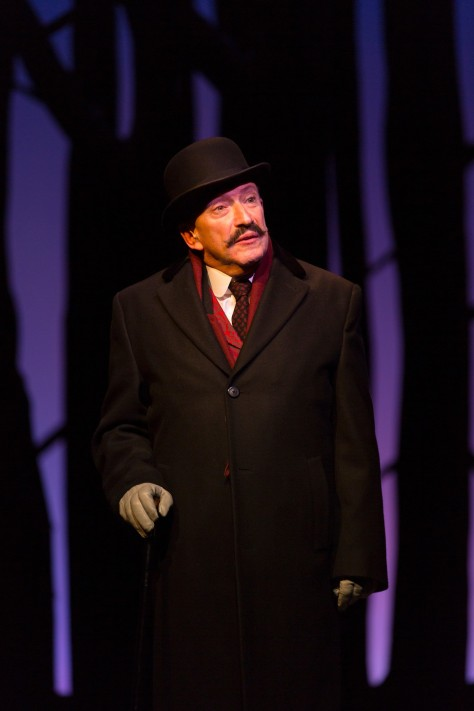 "Allan Corduner as Hercule Poirot in ""Murder on the Orient Express"" The world-premiere production at McCarter Theater, Princeton, was adapted for the stage by Ken Ludwig and is directed by Emily Mann, (PHOTO: T. Charles Erickson.)"