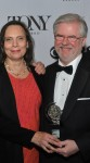 Emily Mann and Christopher Durang at the 2013 Tony Awards (Photo by Shevett Studio)