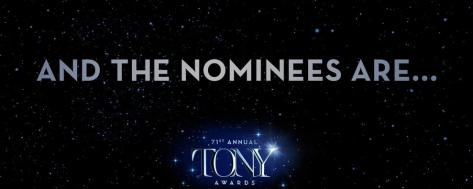 Screen Shot of 2018 Tony nominations