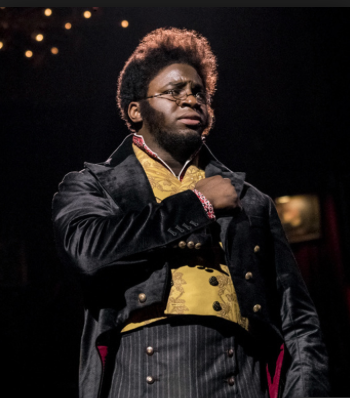 Okieriete Onaodowan as Pierre, the leading male character, in Natasha, Pierre & the Great Comet of 1812.""