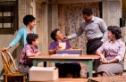 "The Younger family's hope for achieving their dreams is at the center of ""A Raisin In the Sun"" featuring Jasmine Batchelor (Beneatha Younger), Owen Tabaka (Travis Younger), Brenda Pressley (Lena Younger), Brandon J. Dirden (Walter Lee Younger) and Crystal A. Dickinson (Ruth Younger) in at Two River Theater in Red Bank. (PHOTO) T Charles Erickson"