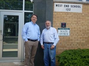 Managing Director Kevin Puvalowski (left) and Executive Producer Gabor Barabas at the West End Arts Center. (PHOTO: Gretchen C. Van Benthuysen)