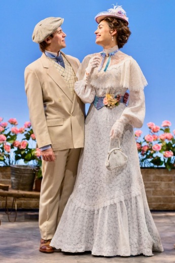 """The Importance of Being Earnest"" directed by Michael Cumpsty with Federico Rodriguez as John Worthing and Rosa Gilmore as Gwendolen Fairfax. (PHOTO: T Charles Erickson)"