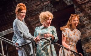 "From left, Janie Dee, Imelda Staunton and Zizi Strallen in ""Follies"" at the Olivier Awards."