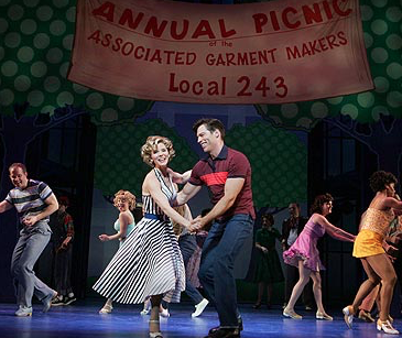 "Kelli O'Hara, Harry Connick Jr. and company in ""The Pajama Game."" (PHOTO: Joan Marcus)"