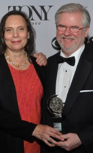 "Emily Mann and Christopher Durang at the 2013 Tony Awards. Durang won the Best Play Tony for ""Vanya and Sonia and Masha and Spike,. The play premiered at McCarter Theatre in Princeton in 2012 and was directed by Mann. (PHOTO: Shevett Studios)"