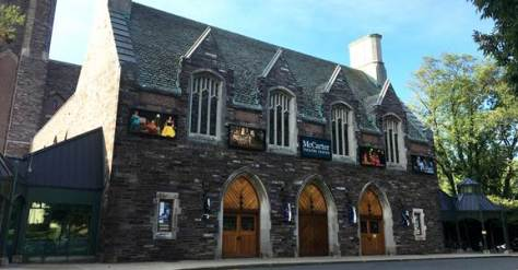 Exterior shot of McCarter Theatre in Princeton.