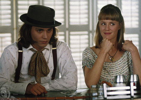 "Johnny Depp and Mary Stuart Masterson in the 1993 movie ""Benny & Joon."" (PHOTO: Metro-Goldwyn-Mayer studios)"