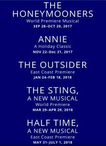 Paper Mill Playhouse's 2017-2018 season.