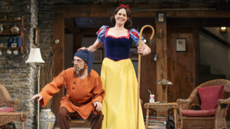 "Sigourney Weaver and David Hyde Pierce in Christopher Durang's ""Vanya and Sonia and Masha and Spike."""