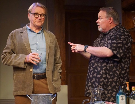 "David Rasche (left) and Tom McGowan duel over the stove and recipes in Michael Tucker's new play ""Fern Hill."" (PHOTO: SuzAnne Barabas)"