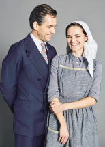 """""""The Sound of Music Live' on ITV features Julian Ovenden as Georg Von Trapp and Kara Tointon as Maria Rainer. (PHOTO: iTV Studios) This photograph is (C) ITV Plc and can only be reproduced for editorial purposes directly in connection with the programme or event mentioned above or ITV plc. Once made available by ITV plc Picture Desk, this photograph can be reproduced once only up until the transmission [TX] date and no reproduction fee will be charged. Any subsequent usage may incur a fee. This photograph must not be manipulated [excluding basic cropping] in a manner which alters the visual appearance of the person photographed deemed detrimental or inappropriate by ITV plc Picture Desk. This photograph must not be syndicated to any other company, publication or website, or permanently archived, without the express written permission of ITV Plc Picture Desk. Full Terms and conditions are available on the website www.itvpictures.com For further information please contact: james.hilder@itv.com / 0207 157 3052"""