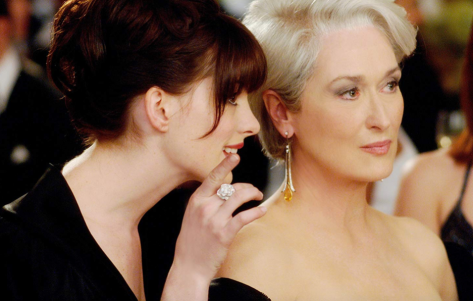 """The Devil Wears Prada"" is the latest movie to get the song-and-dance stage treatment. The film starred Meryl Streep (right) and Anne Hathaway. (Photo courtesy of Twentieth Century Fox.)"